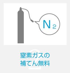 窒素ガスの補てん無料